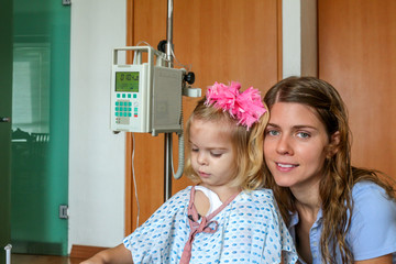Hospitalized Girl and her Mom