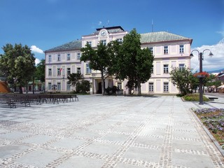 Historic County hall in Liptovsky Mikulas