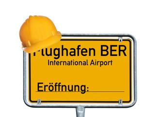 Schild - Flughafen BER