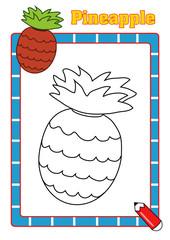 colora la frutta, ananas