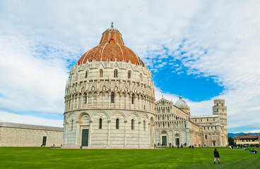 baptistery in Cathedral Square at Pisa in Italy
