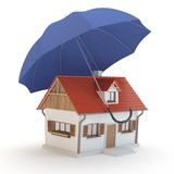 House and umbrella 3D