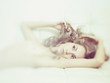 Leinwanddruck Bild - Sensual woman in bed