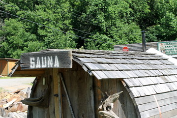 old wooden sauna