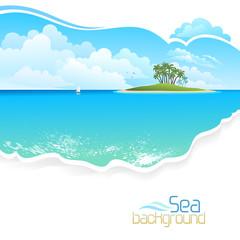 Green Island in Ocean