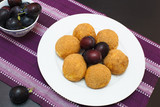 Sweet plum dumplings