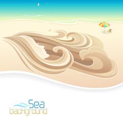 Love  - Sand Sculpture on Beach