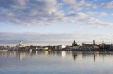 Panorama of Helsinki - sea in the foreground