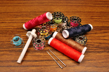 Thread a sewing machine