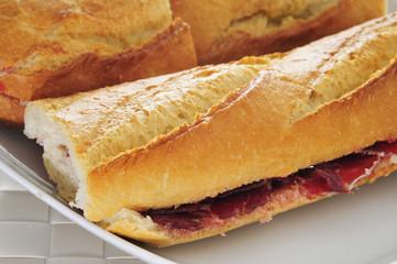 spanish serrano ham sandwich
