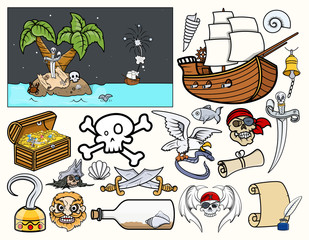 Pirates Vector Graphic Elements
