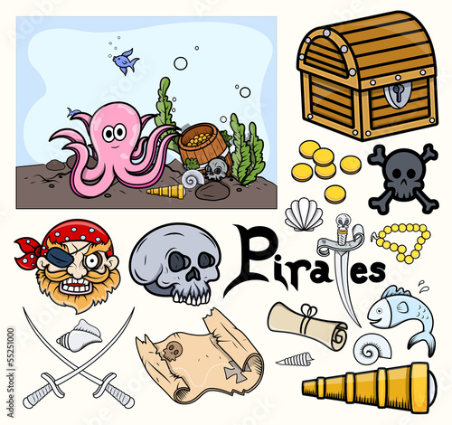 Pirates Graphic Elements