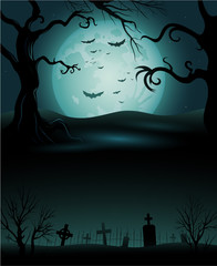 Creepy tree Halloween background copyspace eps 10