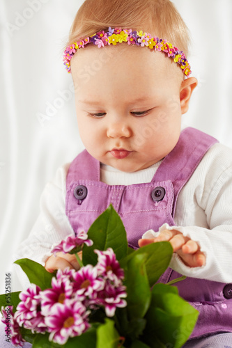 Fototapeten,perlenkette,kind,adorable,baby