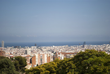 Aereal view of Barcelona, Spain