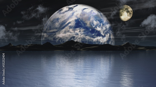 Earth and moon background