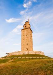 Hercules tower (lighthouse)l in La Coruna, Spain.