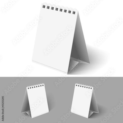 Blank flip calendars.