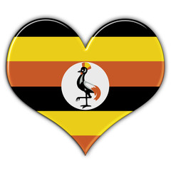 Heart with flag of Uganda