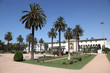 Square with palm trees in Casablanca, Morocco, North Africa