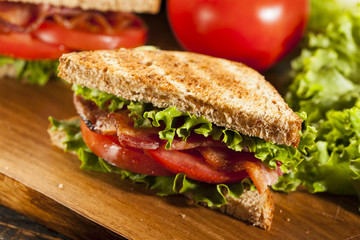 Fresh Homemade BLT Sandwich