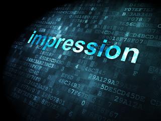 Marketing concept: Impression on digital background