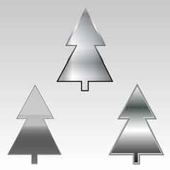 Christmas tree button set