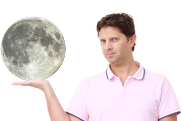 Man holding the moon