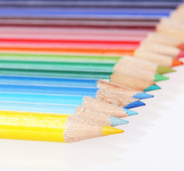 Colorful pencils. Closeup. Back to school concept.