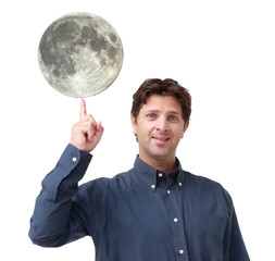 Man with the moon on his finger