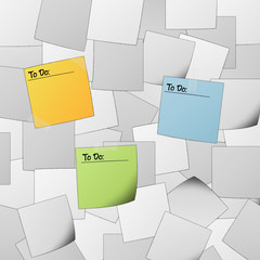 """Black and white post it background with text """"To do"""""""