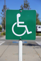 Disable parking sign
