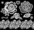 lace embroidery designs vector