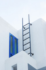 iron stairs for emergency exit