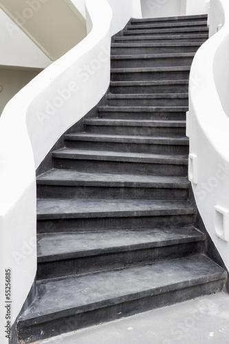 Fotobehang Athene black stairs