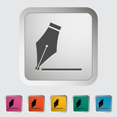Nib. Single icon. Vector illustration.