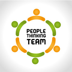 people thinking team