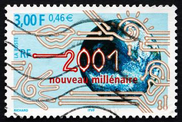 Postage stamp France 2000 2001, Start of New Millennium