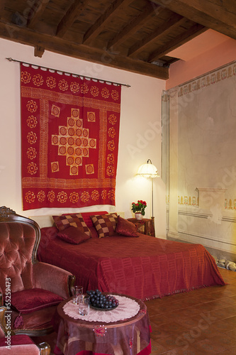 Bedroom in Tuscany style