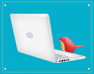 Laptop Bird