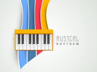 Music concept with piano on colorful background, can be use as f
