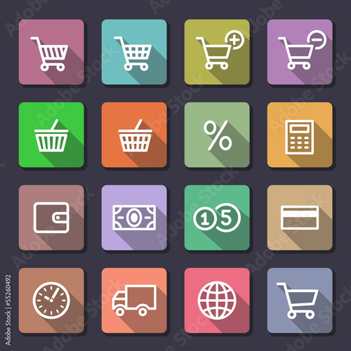Shopping icons set. Flaticons series