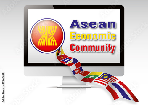 Asean Economic Community Flag Computer