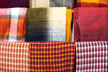 Colorful fabrics.