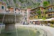 Limone, Markt, Brunnen, Hafen, Gardasee, Italien