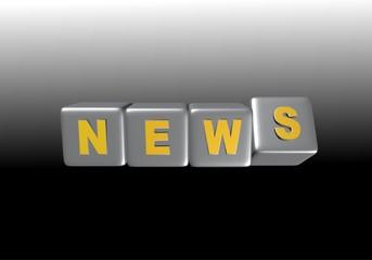cubes news 3D noir