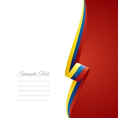 Venezuelan right side brochure cover vector
