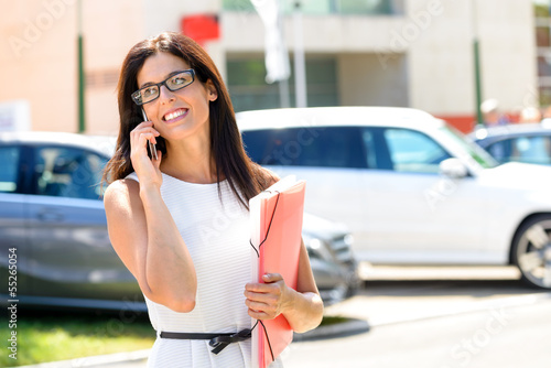 Car sale business woman success