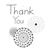 Thank you card, with font