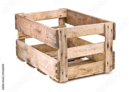 Leinwanddruck Bild alte Weinkiste aus Holz